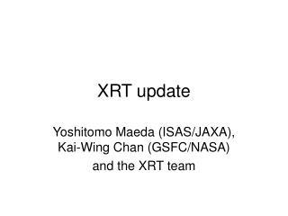 XRT update