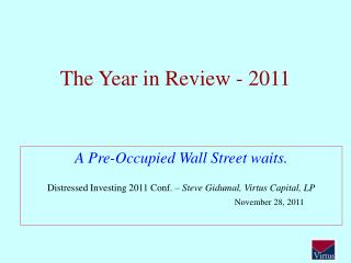 The Year in Review - 2011