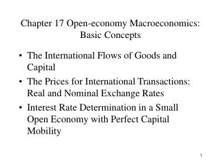 Chapter 17 Open-economy Macroeconomics: Basic Concepts