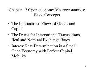 Chapter 17 Open-economy Macroeconomics: Basic Concepts