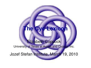 The Cyc Lexicon