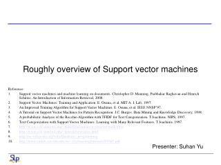 Roughly overview of Support vector machines