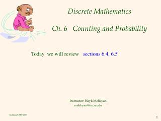 Discrete Mathematics Ch. 6   Counting and Probability