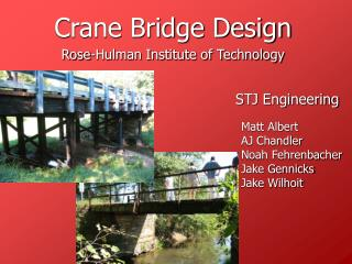 Crane Bridge Design