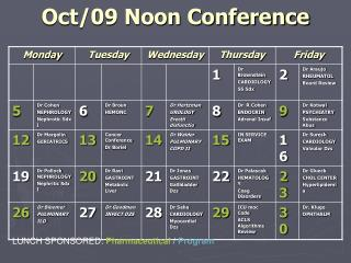 Oct/09 Noon Conference