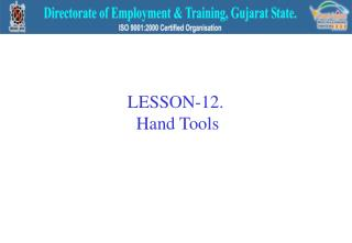 LESSON-12.  Hand Tools