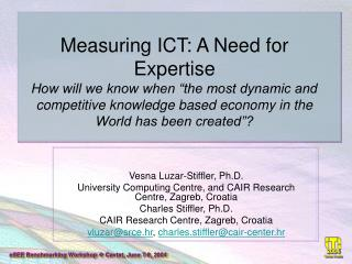 Vesna Luzar-Stiffler, Ph.D.