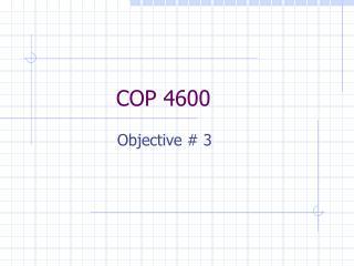 COP 4600