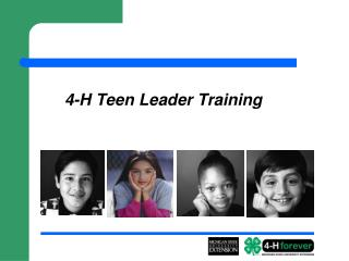 4-H Teen Leader Training