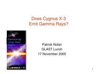 Does Cygnus X-3 Emit Gamma Rays?