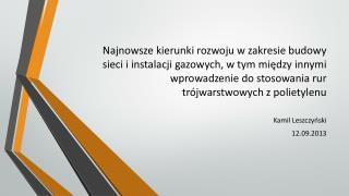 Kamil Leszczyński 12.09.2013