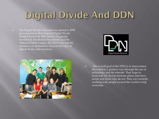 Digital Divide And DDN