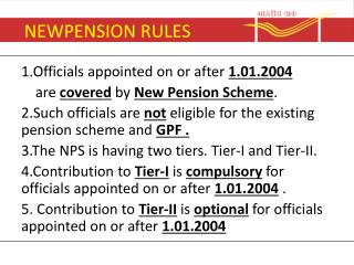 NEWPENSION RULES