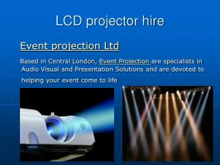 LCD projector hire service london