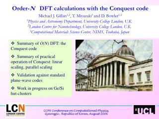 Summary of  O(N)  DFT: the Conquest code