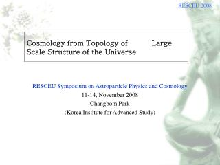 Cosmology from Topology of          Large Scale Structure of the Universe