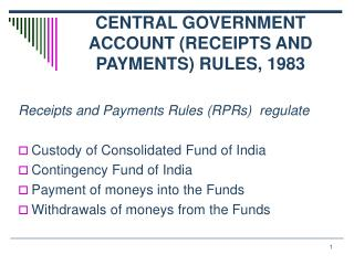 CENTRAL GOVERNMENT ACCOUNT (RECEIPTS AND PAYMENTS) RULES, 1983