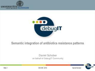 Daniel Schober on behalf of DebugIT Community
