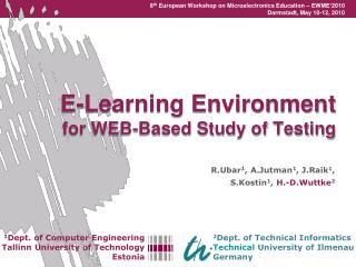 E-Learning Environment  for WEB-Based Study of Testing