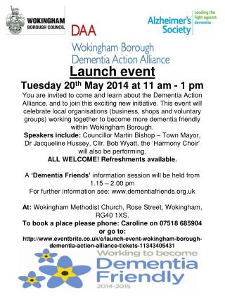 wokingham borough daa launch event