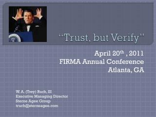 """Trust, but Verify"""