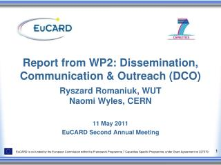Report from WP2: Dissemination, Communication & Outreach (DCO)