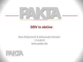 DDV in občine