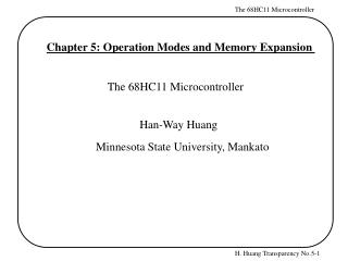 Chapter 5: Operation Modes and Memory Expansion