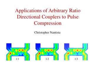 Applications of Arbitrary Ratio Directional Couplers to Pulse Compression