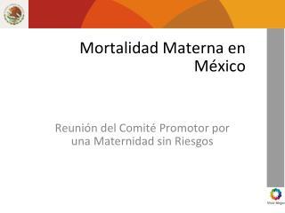 Mortalidad Materna en México
