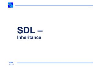 SDL – Inheritance