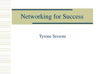 Networking for Success