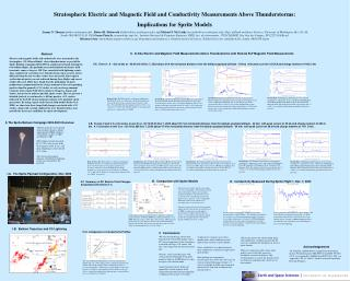 Stratospheric Electric and Magnetic Field and Conductivity Measurements Above Thunderstorms: