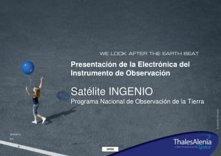 Sat�lite INGENIO � Entrega Electr�nica del Instrumento