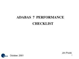 ADABAS  7  PERFORMANCE  CHECKLIST