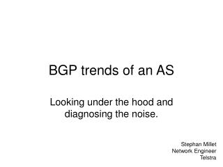 BGP trends of an AS