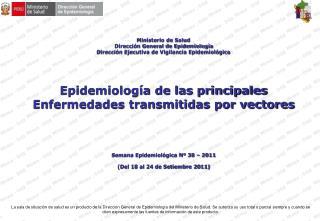 Ministerio de Salud Dirección General de Epidemiología