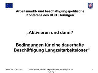 Arbeitsmarkt- und beschäftigungspolitische Konferenz des DGB Thüringen