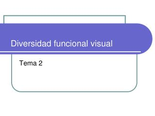 Diversidad funcional visual
