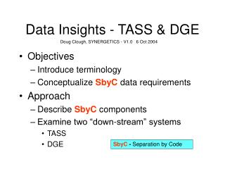 Data Insights - TASS & DGE