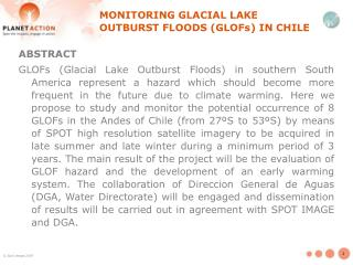 MONITORING GLACIAL LAKE OUTBURST FLOODS (GLOFs) IN CHILE