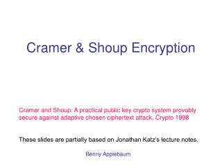 Cramer & Shoup Encryption