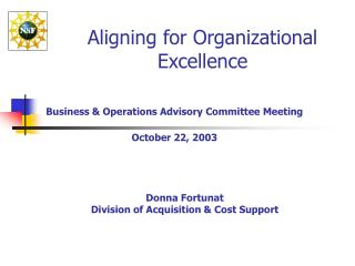 Aligning for Organizational Excellence