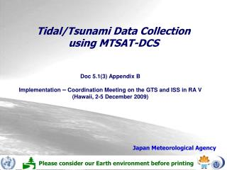 Tidal/Tsunami Data Collection  using MTSAT-DCS