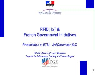 RFID, IoT & French Government Initiatives
