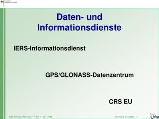 Daten- und Informationsdienste