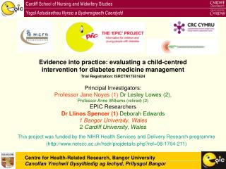 Evidence into practice: evaluating a child-centred intervention for diabetes medicine management