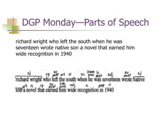 DGP Monday—Parts of Speech