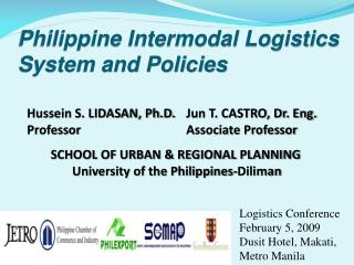 Philippine Intermodal Logistics System and Policies
