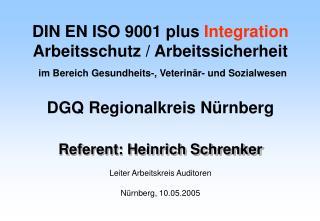 Referent: Heinrich Schrenker